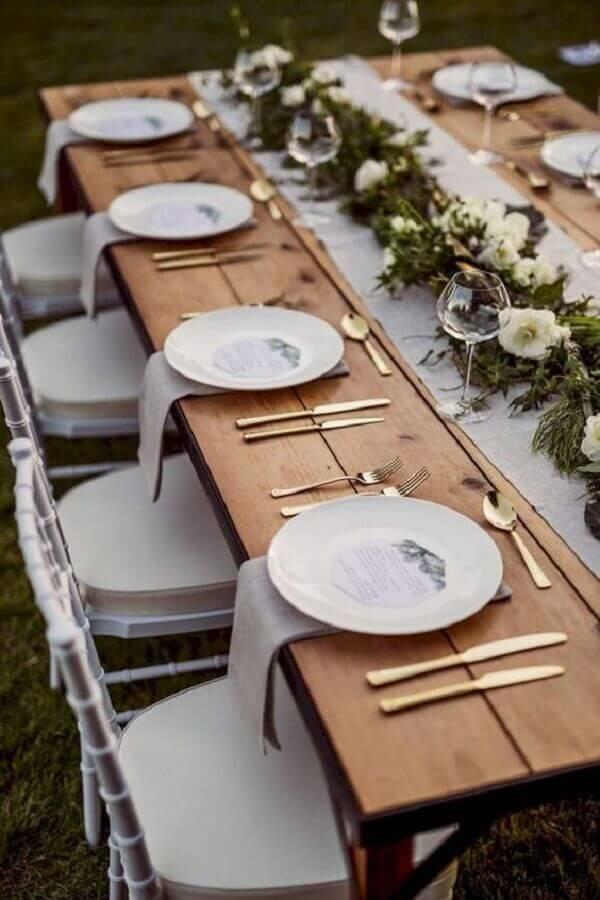 decoração rústica para mesa réveillon Foto Etsy