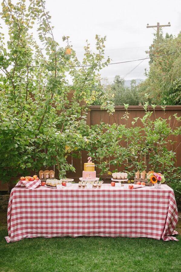 decoração simples para aniversário piquenique Foto Kara's Party Ideas