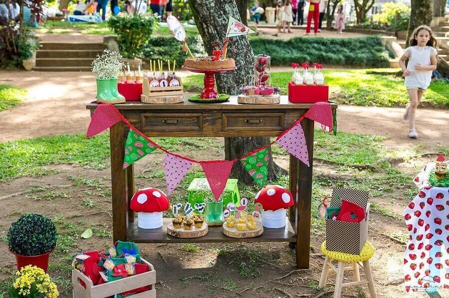 decoração simples para aniversário piquenique Foto Rosalina Rocha