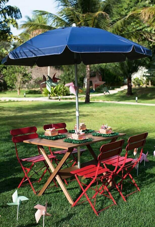 decoração simples para picnic Foto Pinterest
