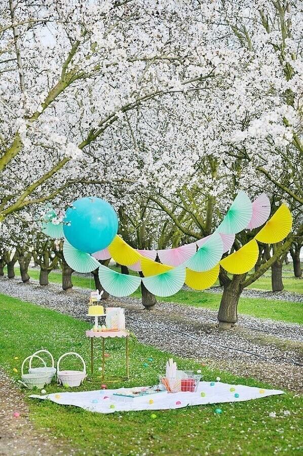 decoração simples para piquenique Foto Happy Wish Company