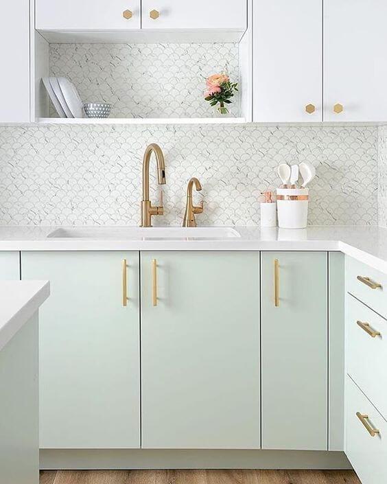 Decoração de armário de cozinha moderna estilo escandinava