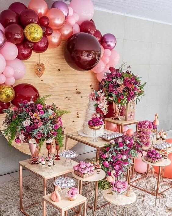 decoração para festa de 18 anos