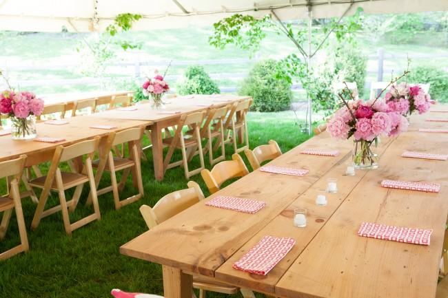 Decoração de festa simples para casamento rústico