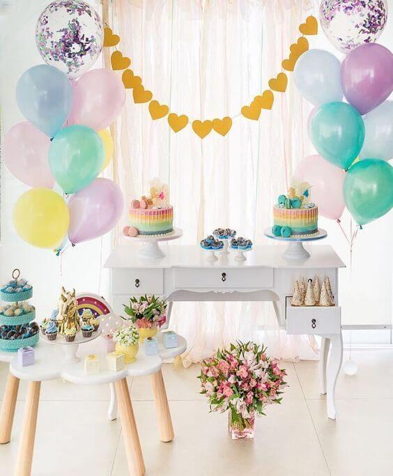 Decoração de festa simples e barata para aniversário