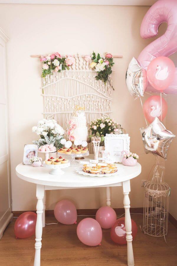 decoração de festa simples para aniversário de 2 anos