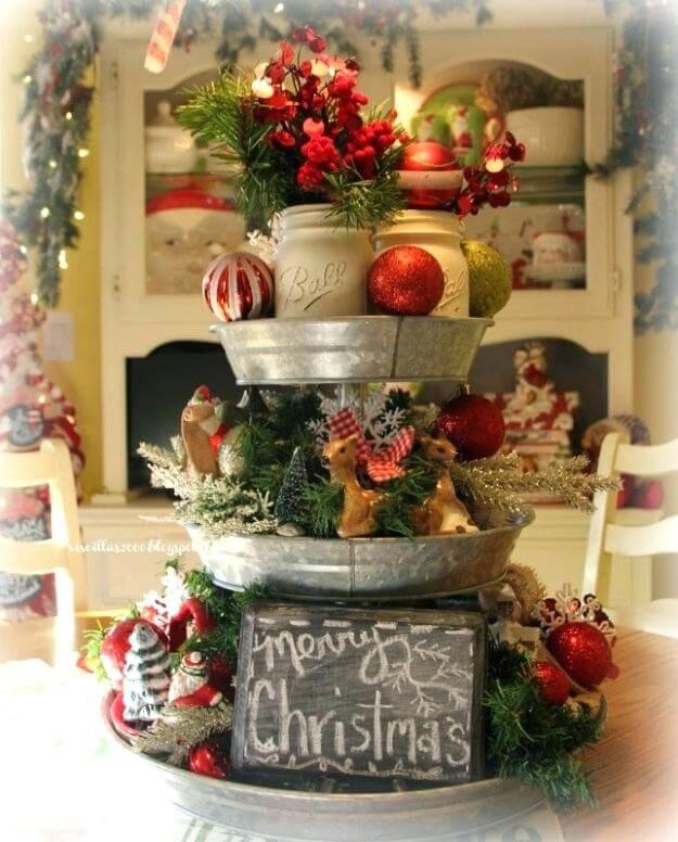 Arranjos de natal para mesa decorada
