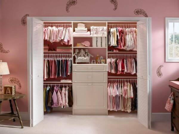 Decoração de closet feminino