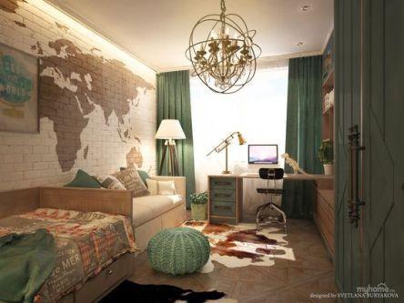 puff de crochê no quarto moderno