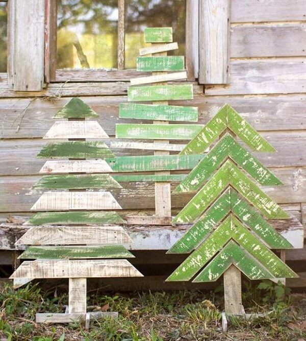Enfeites para jardim com a temática natalina