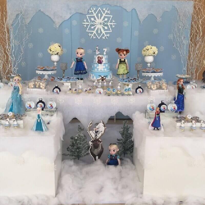delicada decoração para festa da frozen Foto Art em Festa Decorações