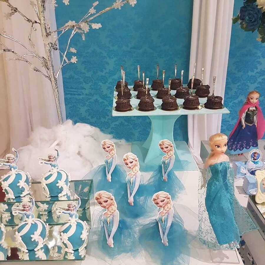 doces decorados para festa de aniversário da frozen Foto Mimos da Lalá