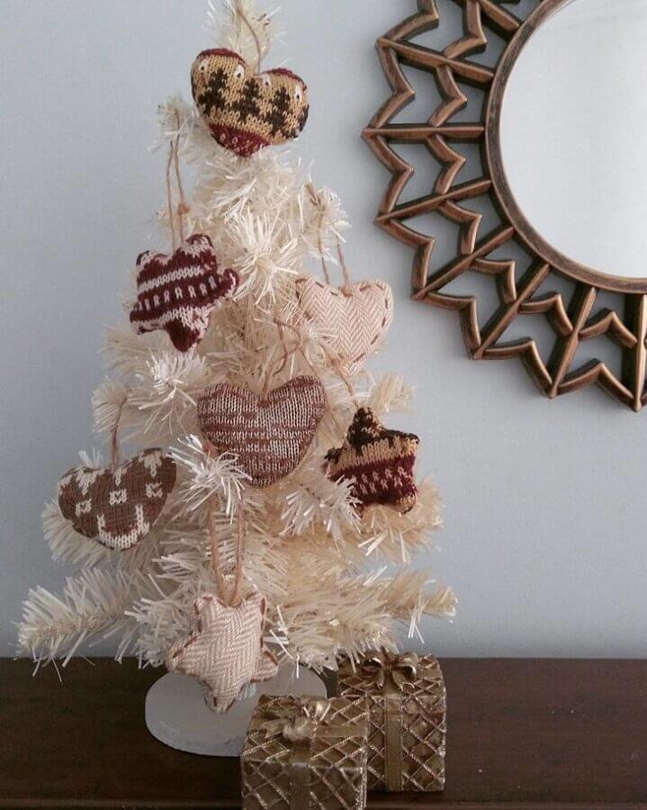 enfeites de crochê para árvore de natal pequena Foto Acesso Decor