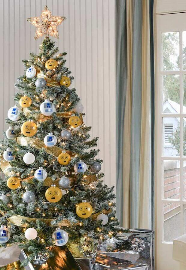 enfeites diferentes para árvore de natal Foto Pinterest