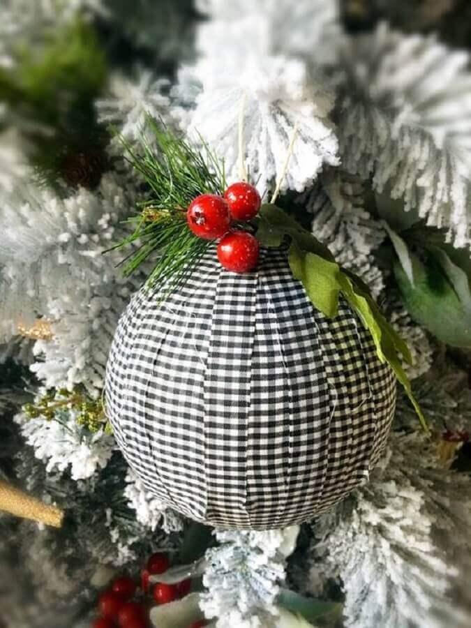 enfeites para árvore de natal artesanal com bola personalizada Foto Etsy