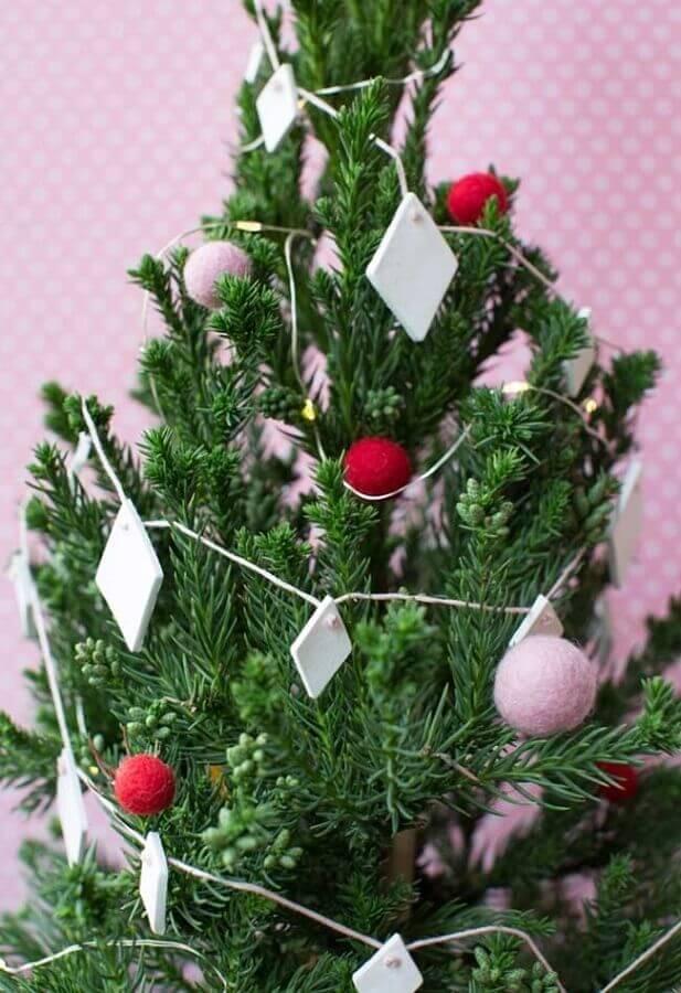 enfeites para árvore de natal simples Foto OBSiGeN