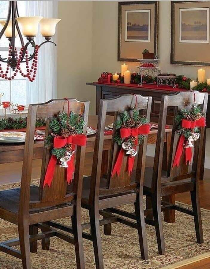 decorations for Christmas in chairs Foto Elle Decor