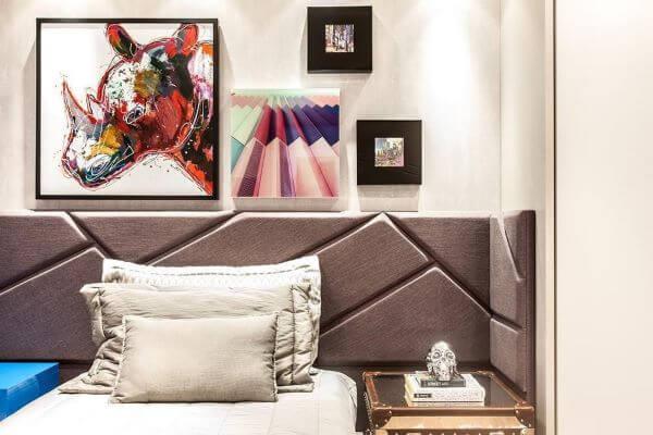 Enfeites para quarto com quadros modernos