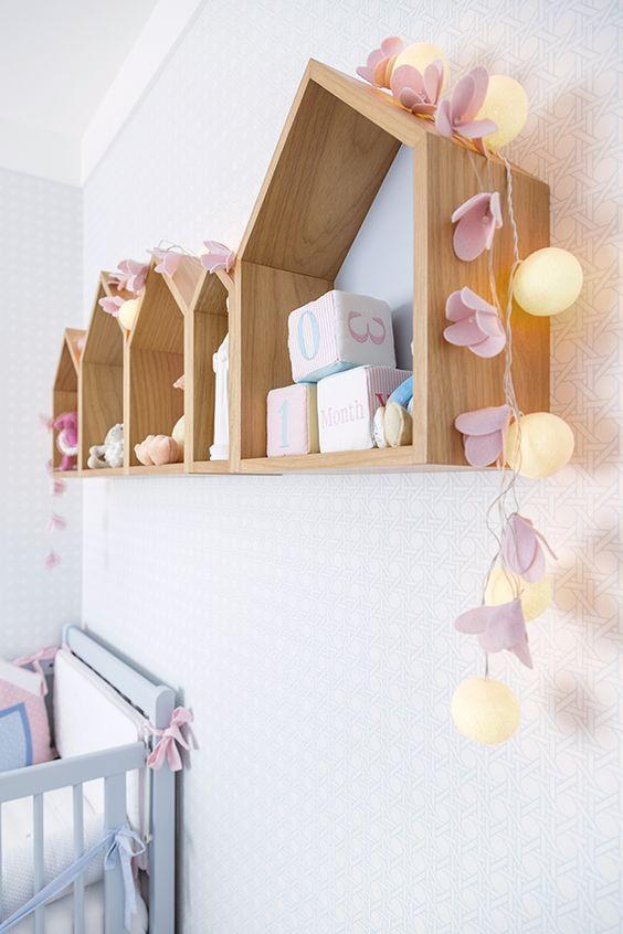 Enfeites para quarto de bebê com nicho