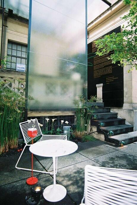 escada externa - escada com acabamento em mármore