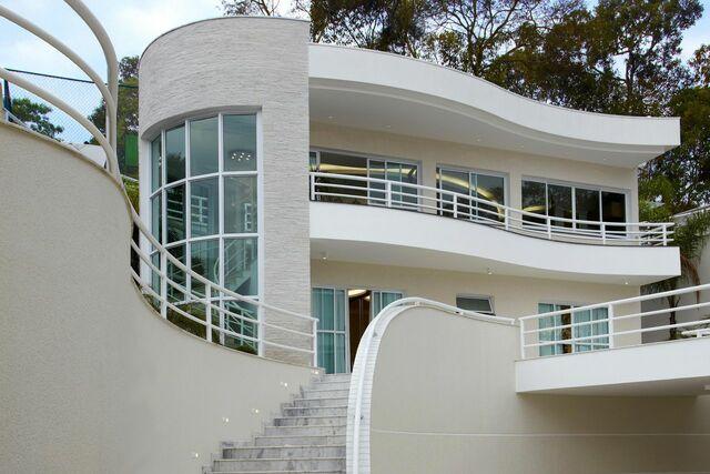 escada externa - escada externa de mármore