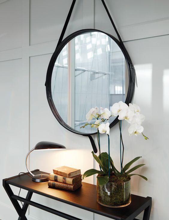 espelho adnet - aparador com espelho adnet simples