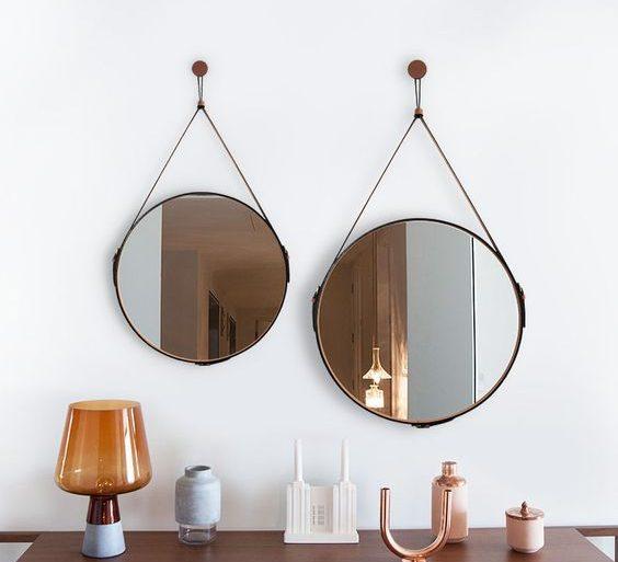 espelho adnet - aparador com espelhos - Oruy