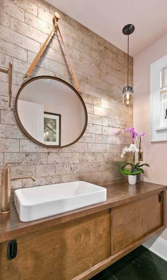 espelho adnet - banheiro com bancada simples