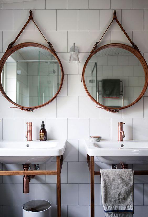 espelho adnet - banheiro duplo com espelhos adnet