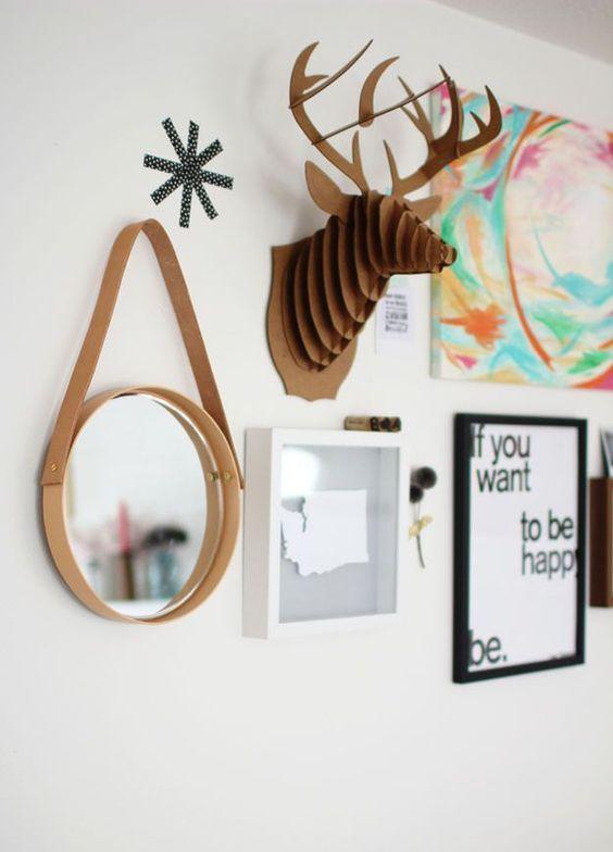 espelho adnet - parede com espelho e quadros decorativos