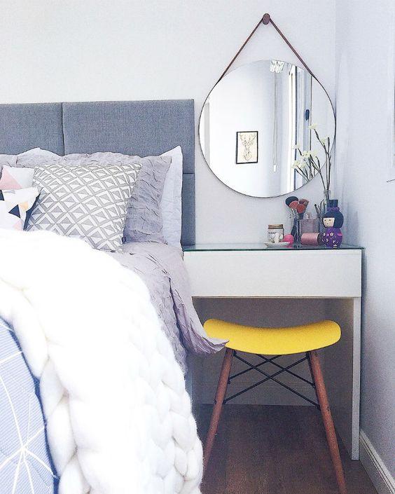 espelho adnet - quarto com penteadeira pequena