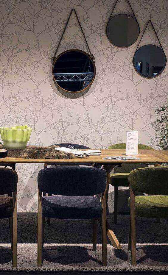 espelho adnet - sala de jantar rústica