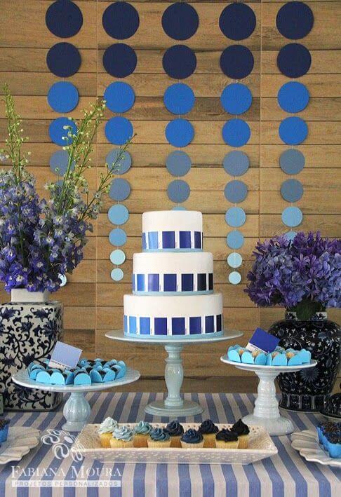 Festa de 18 anos na paleta de cores azul