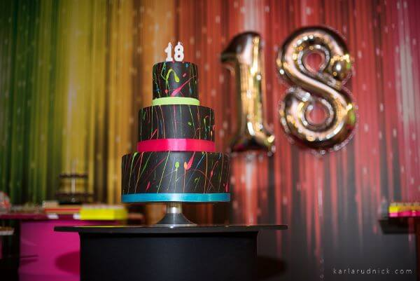 Festa de 18 anos neon