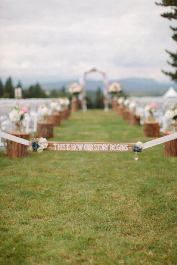 festa de casamento no campo Foto Weddbook