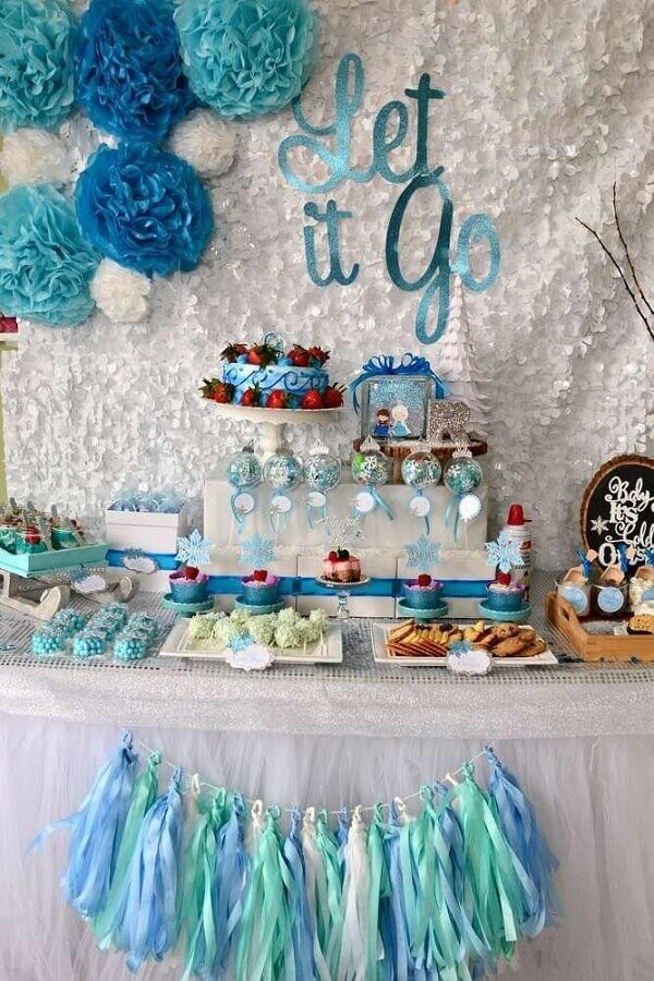 festa simples da frozen Foto Catch My Party