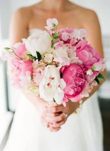 Flores para casamento com peônias