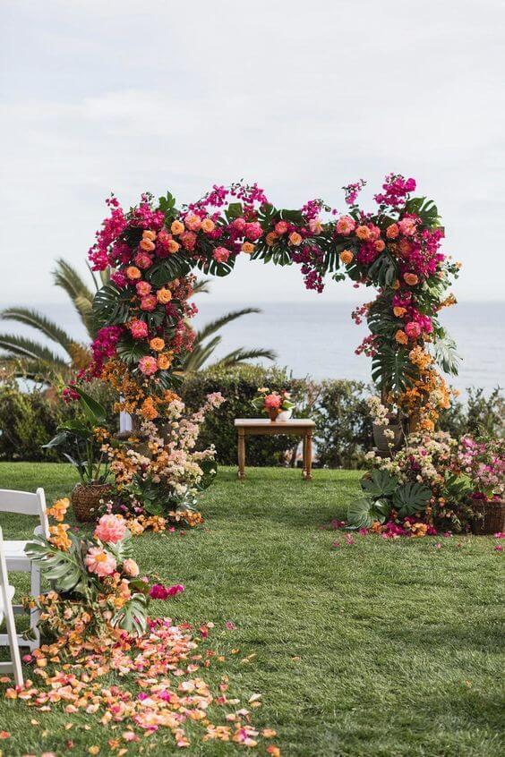 flores para casamento coloridas