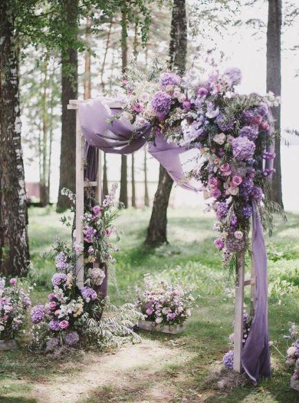 Flores para casamento em tons de lilás