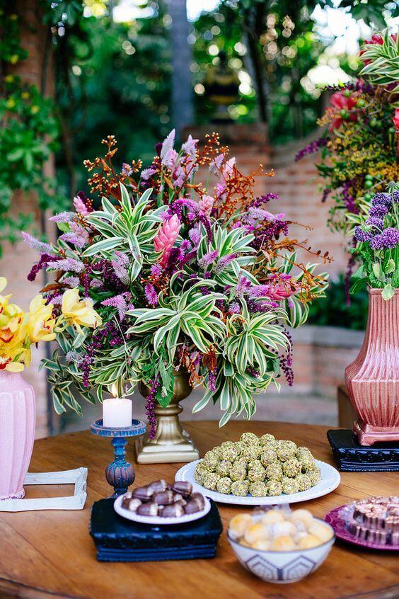 Flores para casamento rústico ao ar livre
