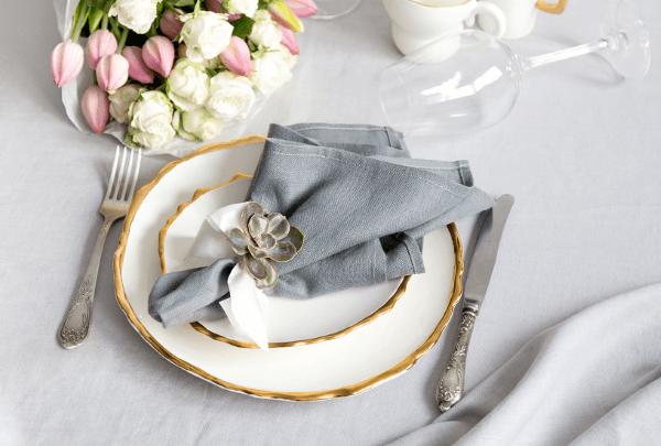 Guardanapo de tecido simples e lindo