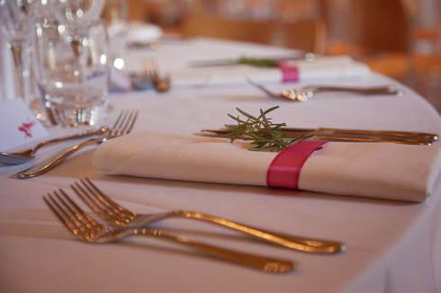 Guardanapo de tecido para casamento clássico