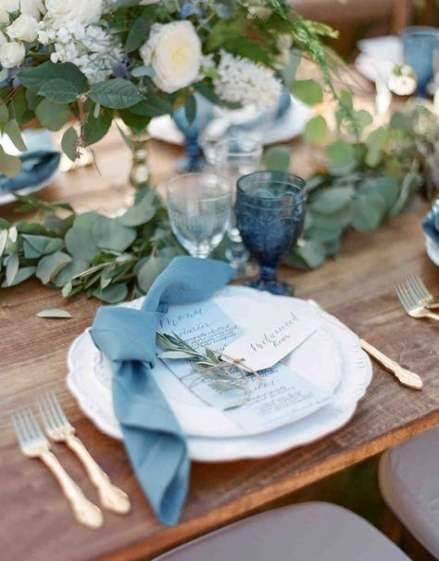 Guardanapo de tecido para casamento