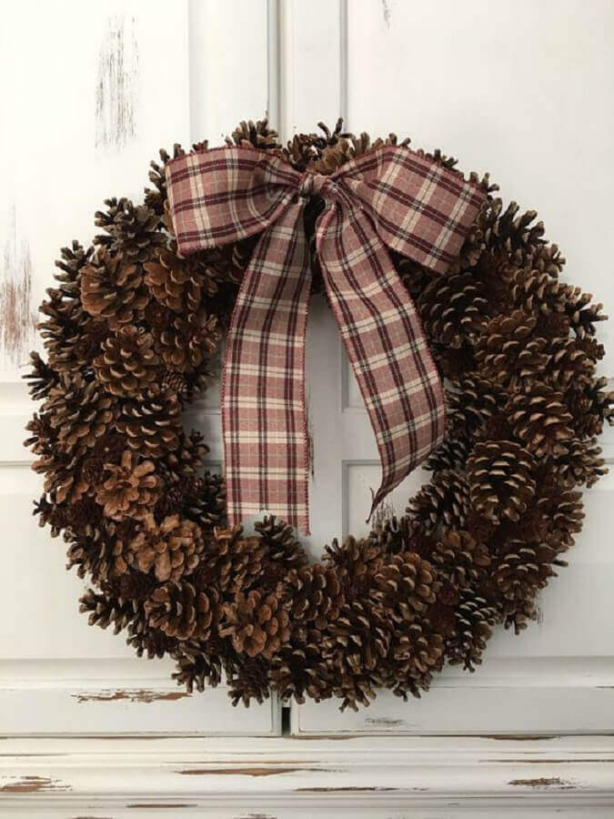 pinecone garland for Christmas decoration Photo Etsy