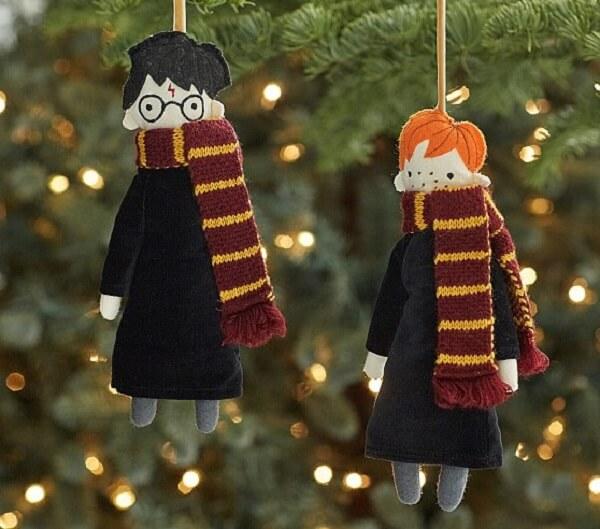Enfeites de natal que se inspiram nos personagens do filme Harry Potter