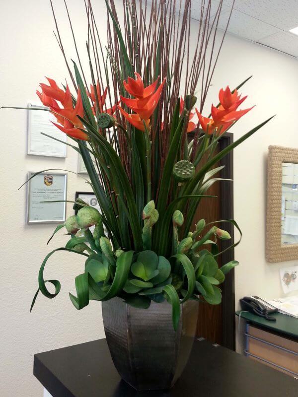 Helicônia arranjos com plantas lindas