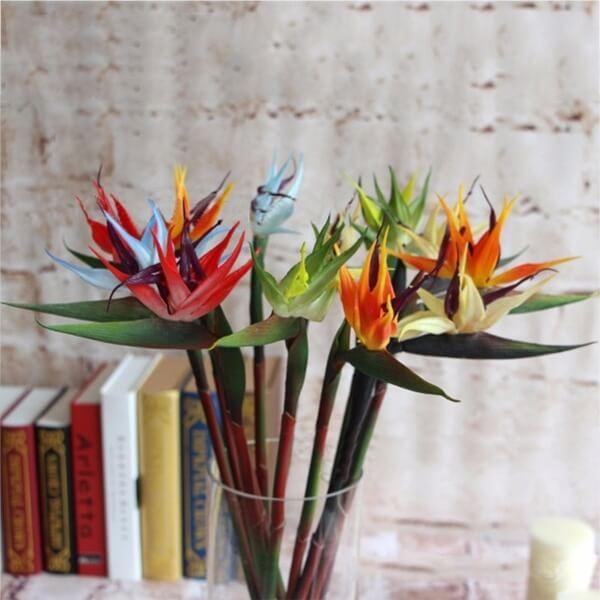 Helicônia papagaio artificial com diferentes cores