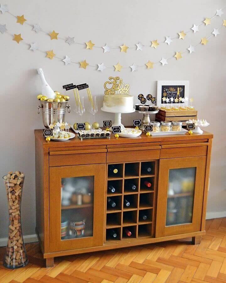 ideia para decoração de réveillon simples Foto Coisas da Bonfa