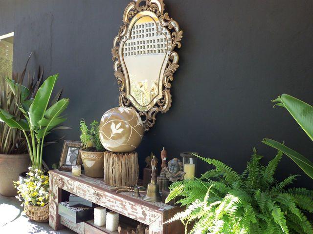 jardim residencial - área externa com espelho