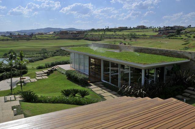 jardim residencial - jardim de casa com teto verde